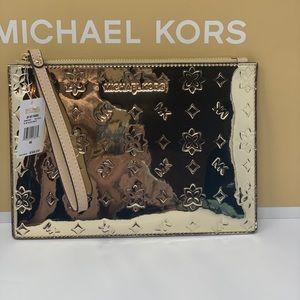 Michael kors jet set travel wristlet pale Gold